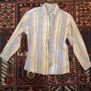 Vintage Rebecca Taylor EUC Button Down Striped Top